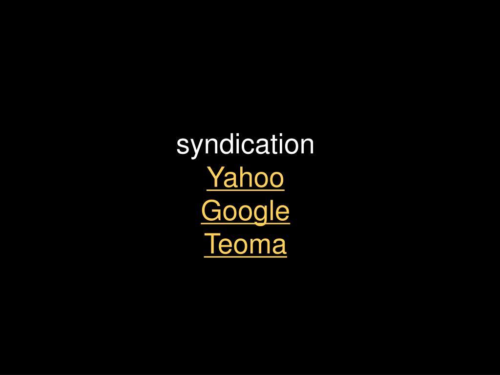 syndication