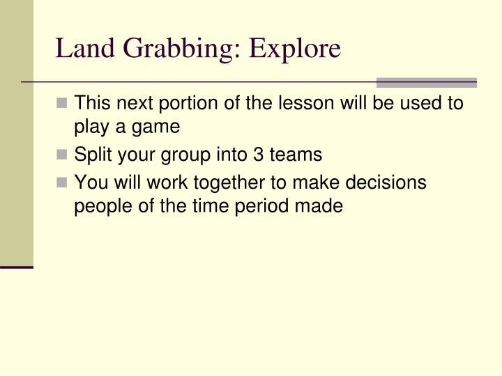 Land Grabbing: Explore