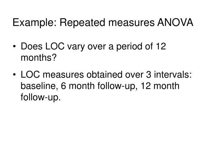 Example: Repeated measures ANOVA