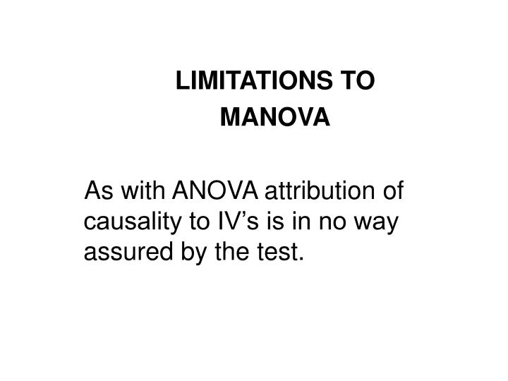 LIMITATIONS TO