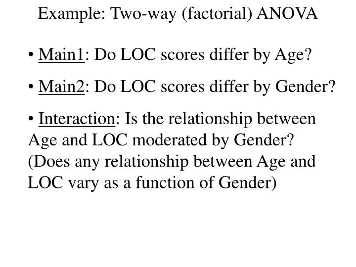 Example: Two-way (factorial) ANOVA