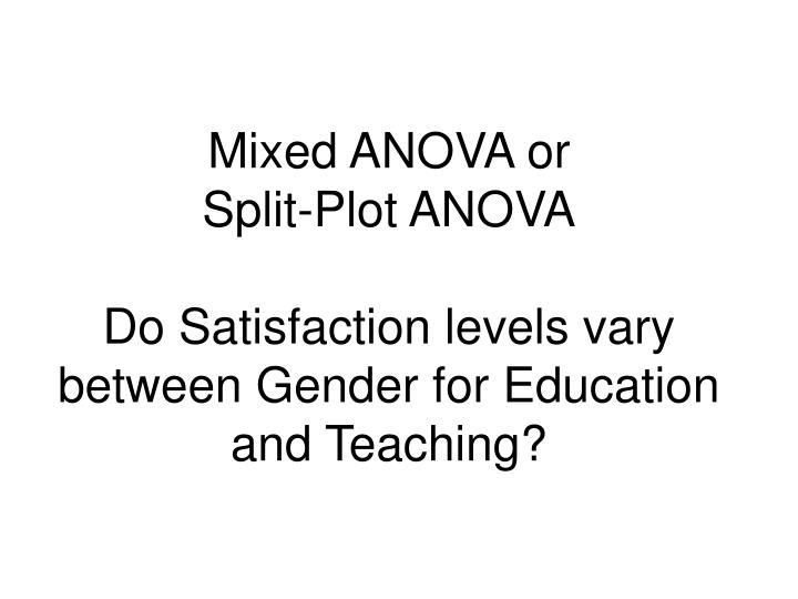 Mixed ANOVA or