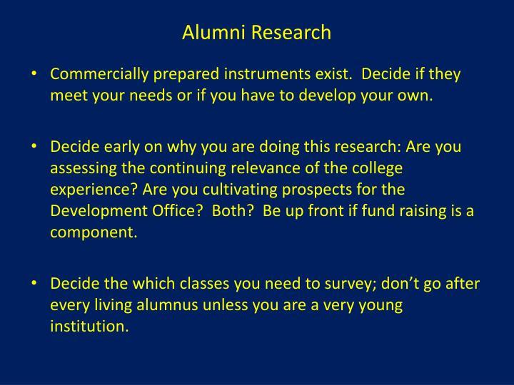 Alumni Research