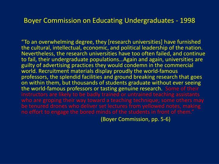 Boyer Commission on Educating Undergraduates - 1998