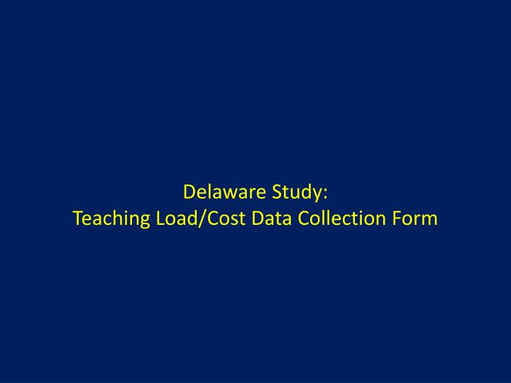 Delaware Study: