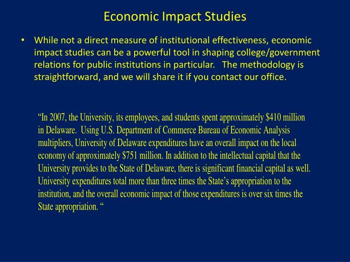 Economic Impact Studies