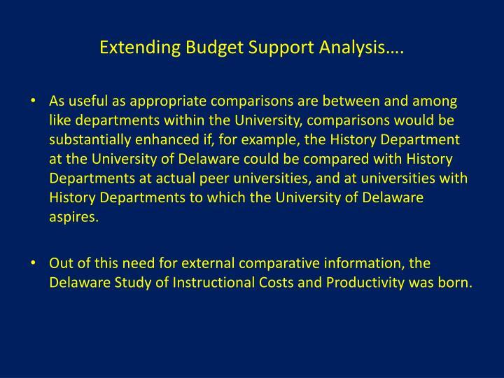 Extending Budget Support Analysis….