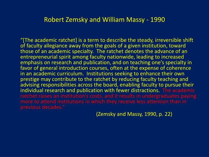 Robert Zemsky and William Massy - 1990