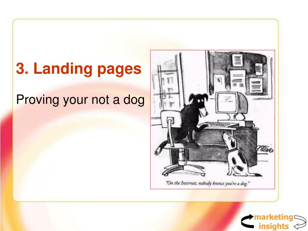 3. Landing pages