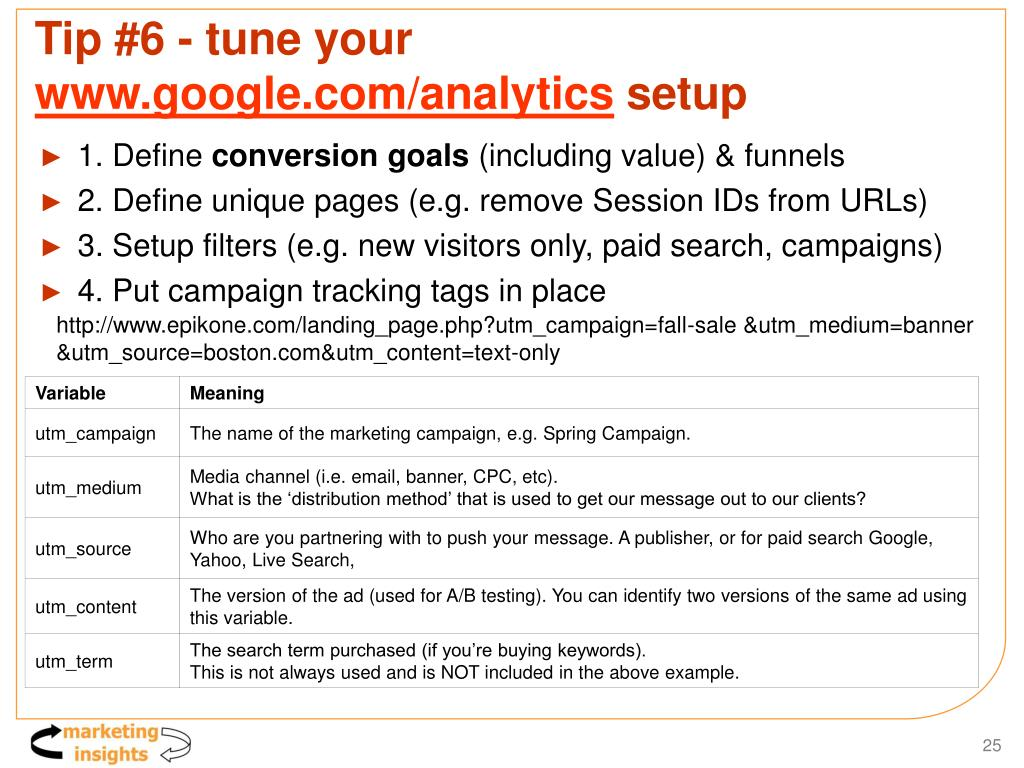 Tip #6 - tune your