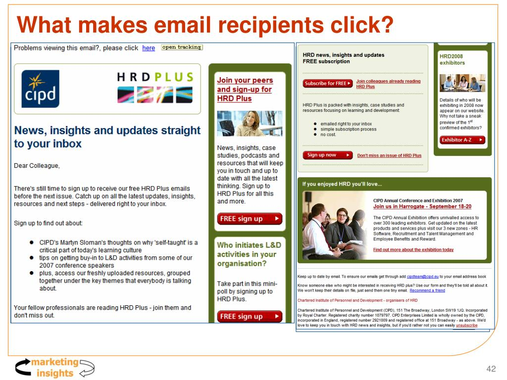What makes email recipients click?