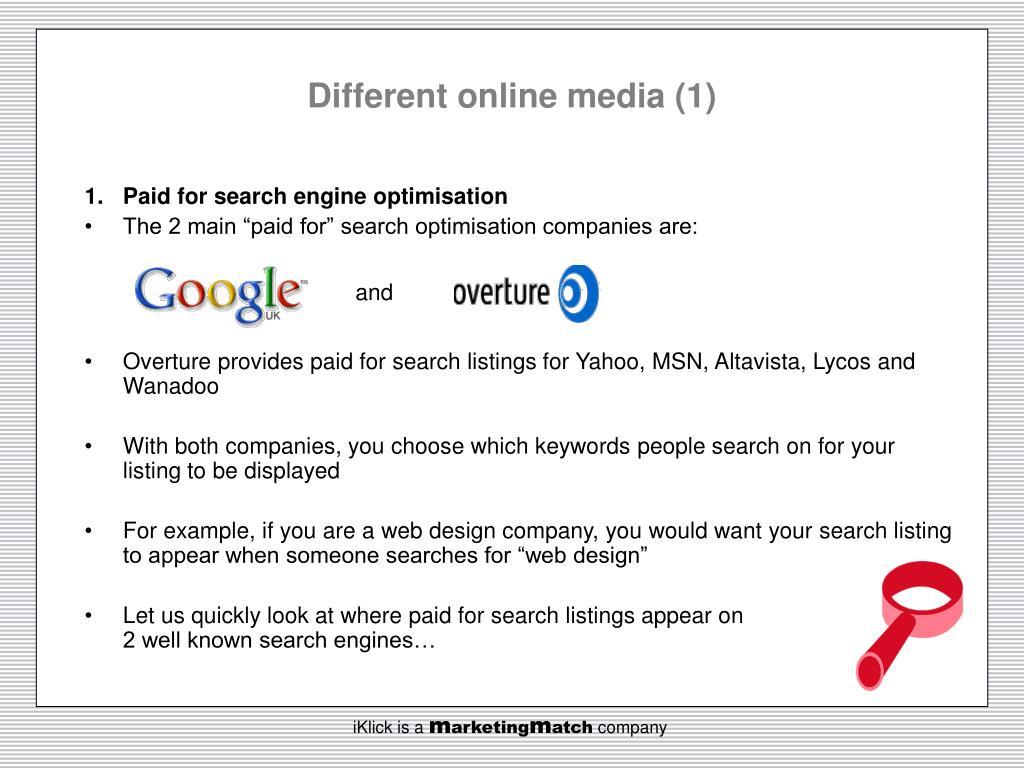 Different online media (1)