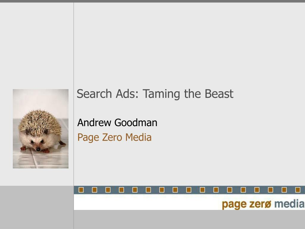 Search Ads: Taming the Beast