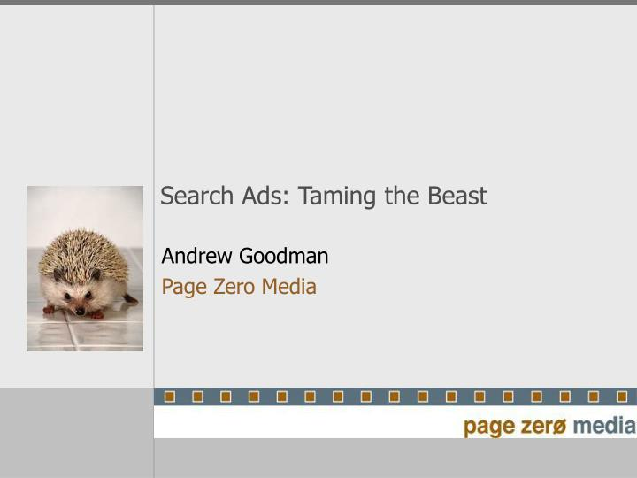 Search ads taming the beast
