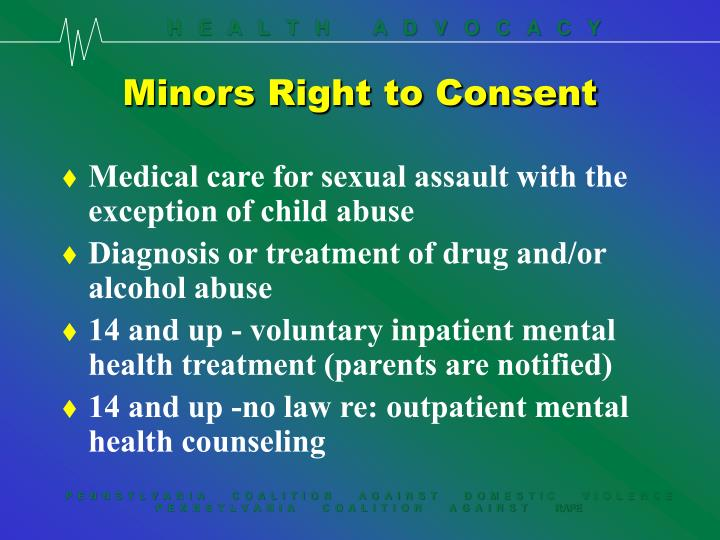Minors Right to Consent