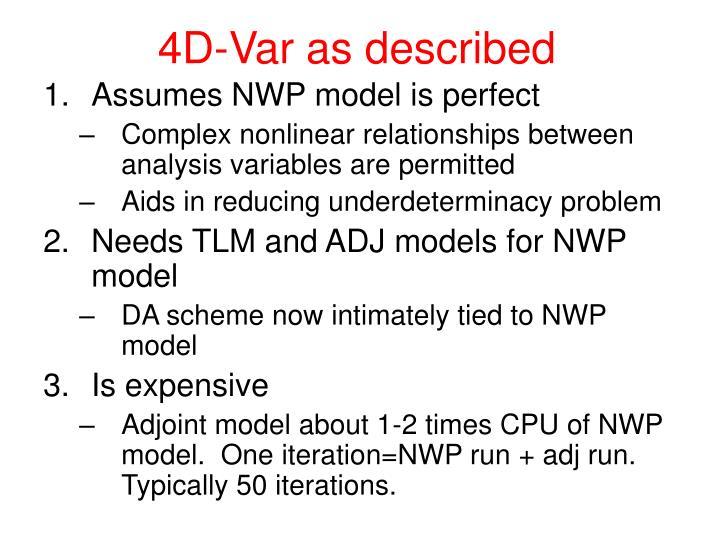 4D-Var as described