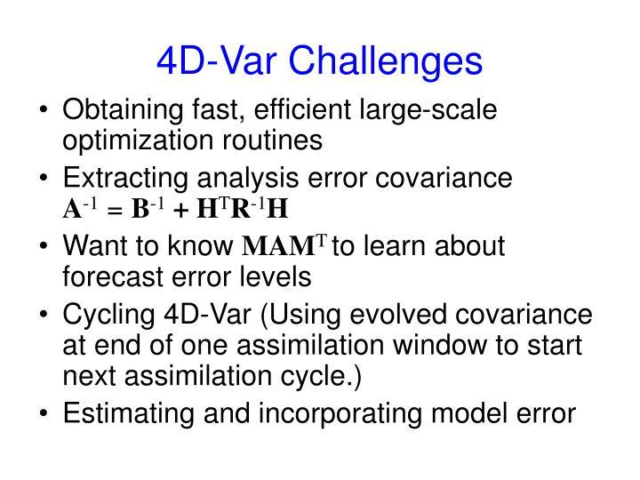 4D-Var Challenges