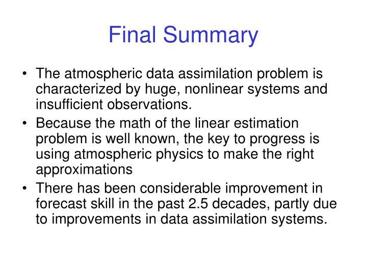 Final Summary