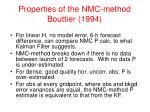 properties of the nmc method bouttier 1994