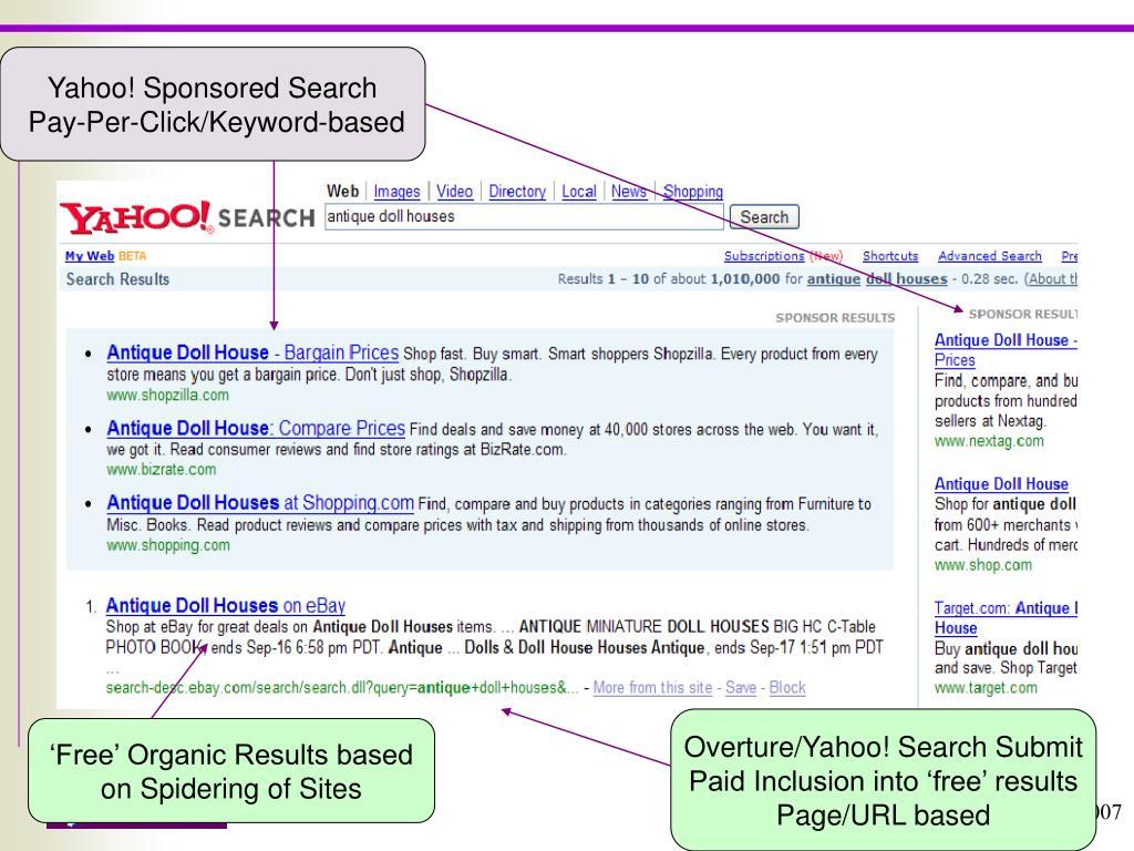 Yahoo! Sponsored Search