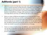 adwords part 1