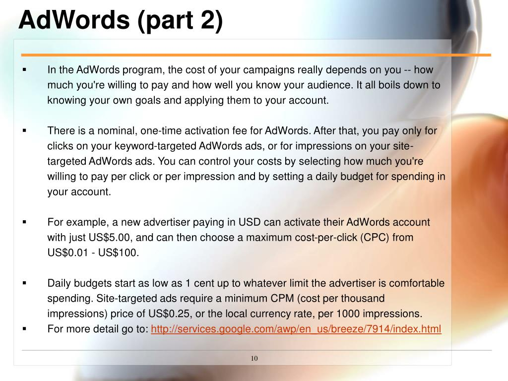 AdWords (part 2)