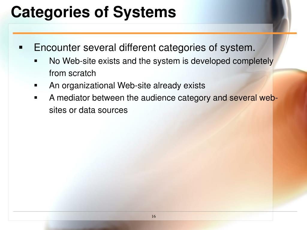 Categories of Systems