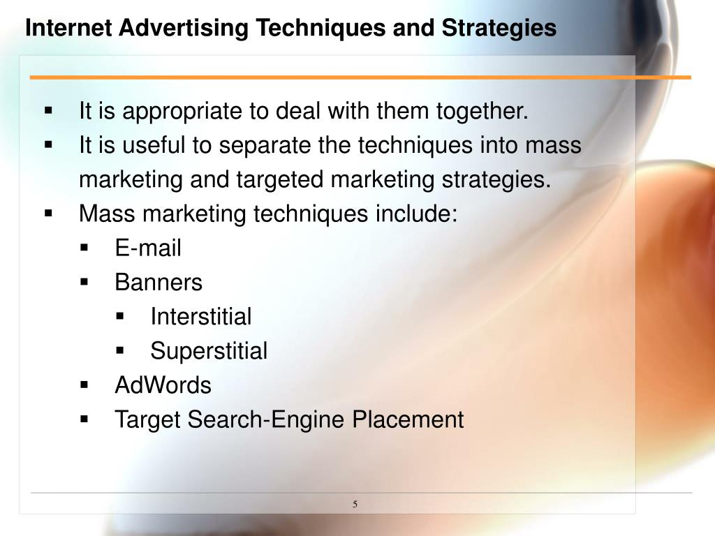Internet Advertising Techniques and Strategies