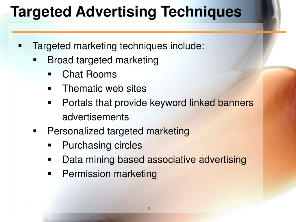 Targeted Advertising Techniques
