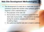 web site development methodologies
