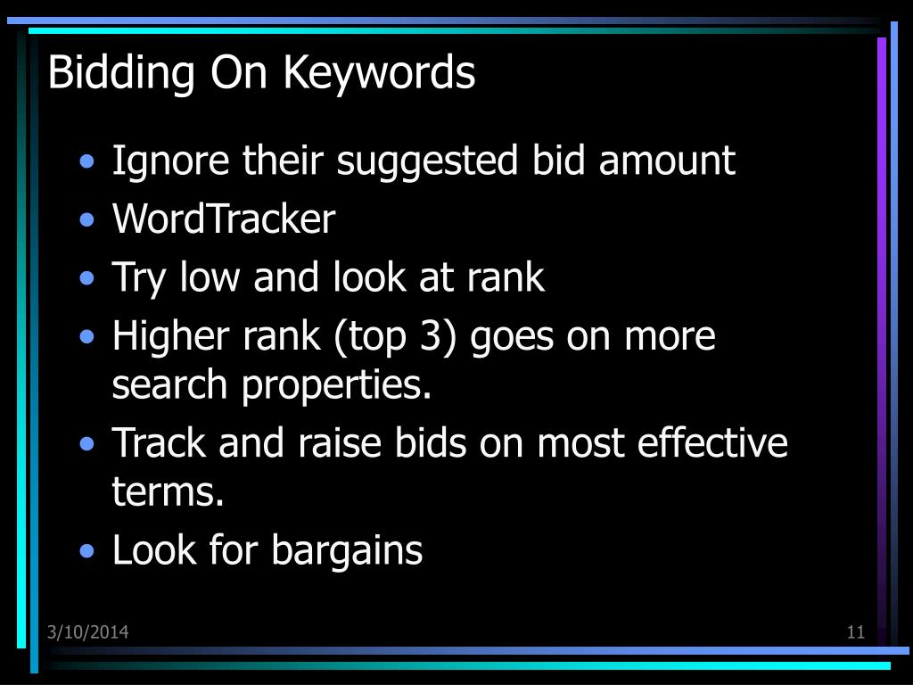 Bidding On Keywords