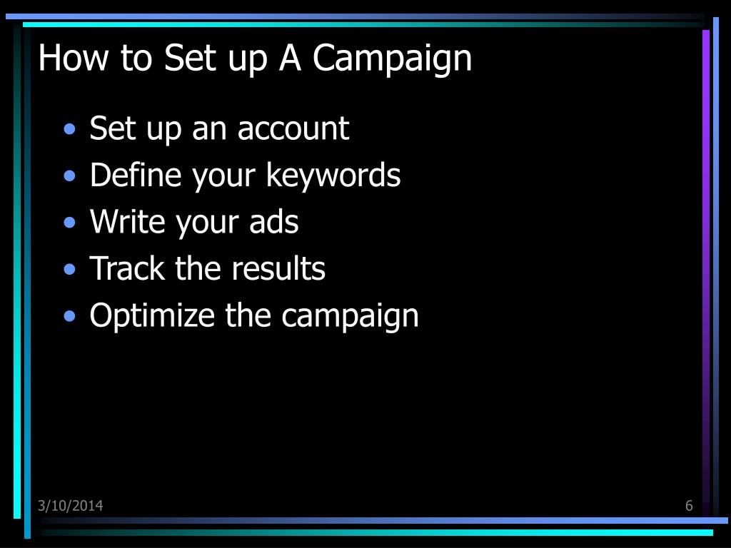How to Set up A Campaign