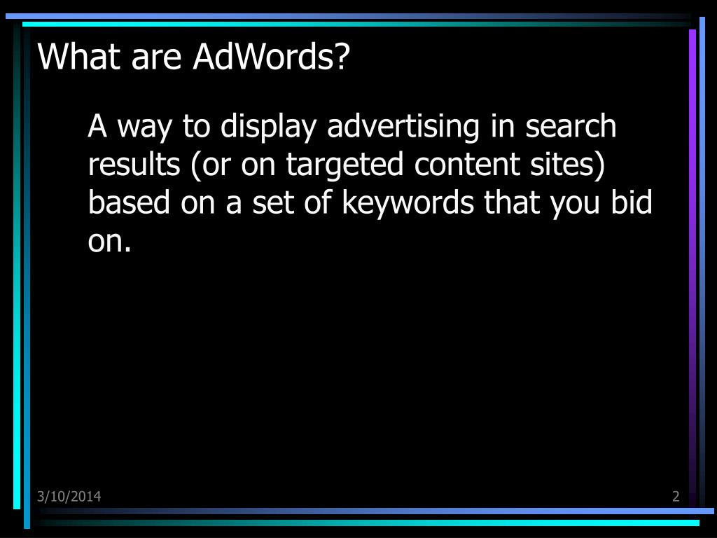 What are AdWords?