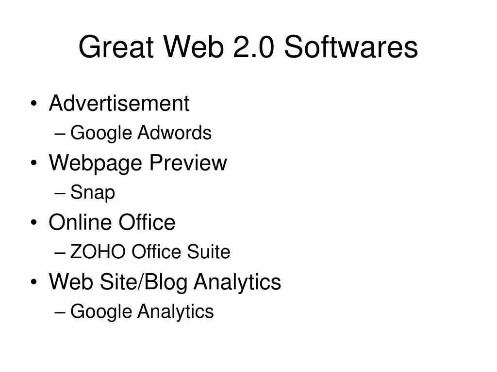 Great Web 2.0 Softwares