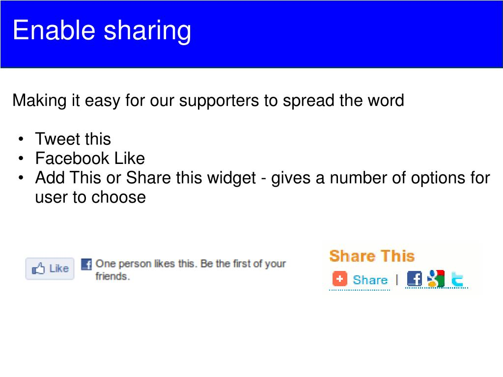 Enable sharing