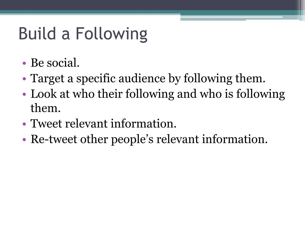 Build a Following