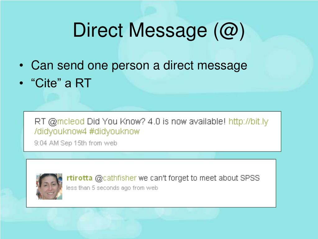 Direct Message (@)