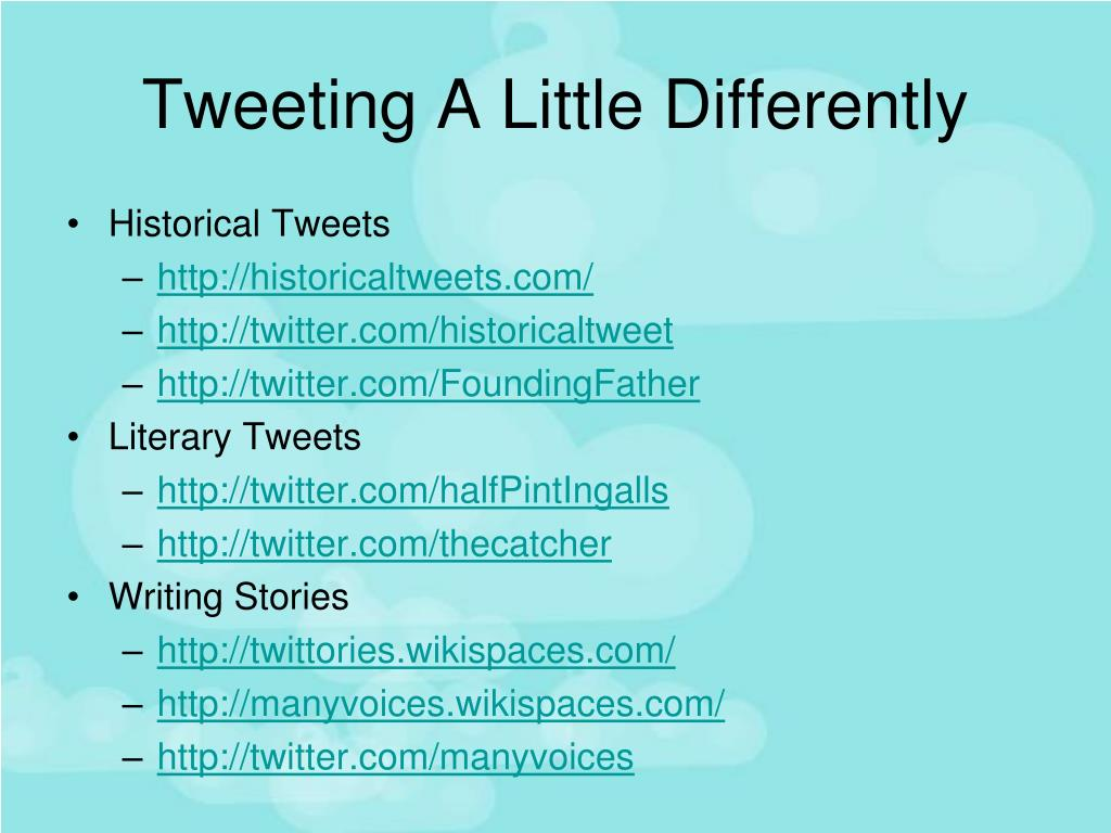 Tweeting A Little Differently