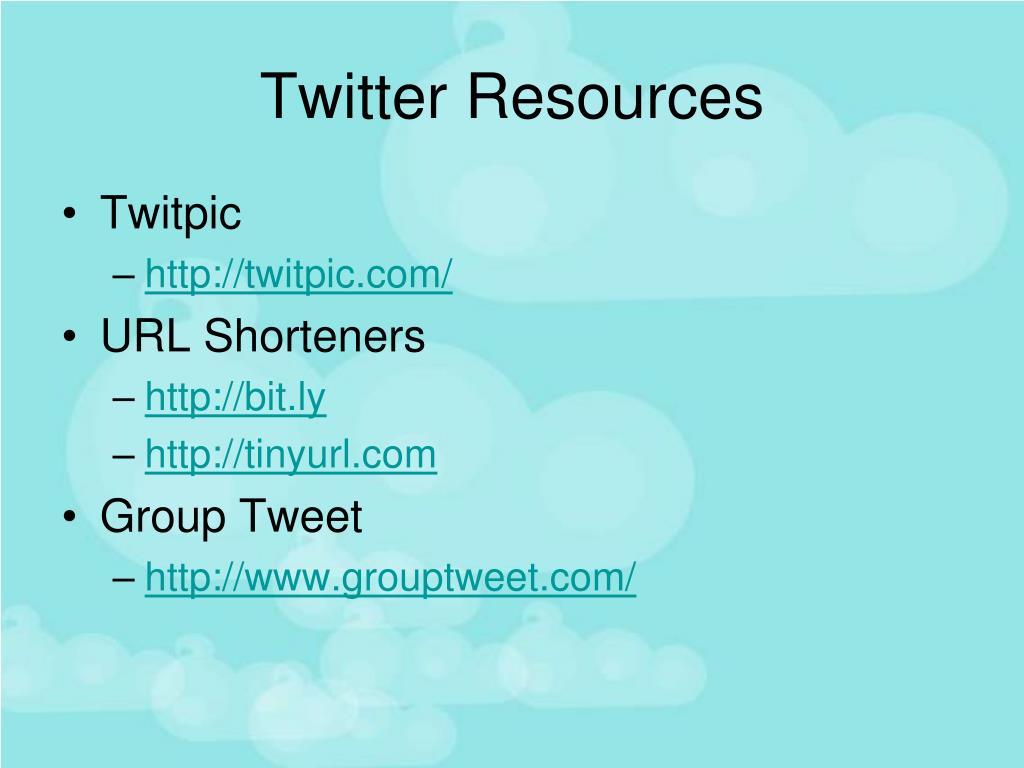 Twitter Resources