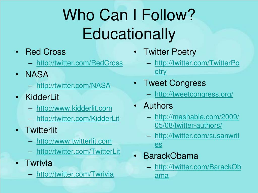 Who Can I Follow?