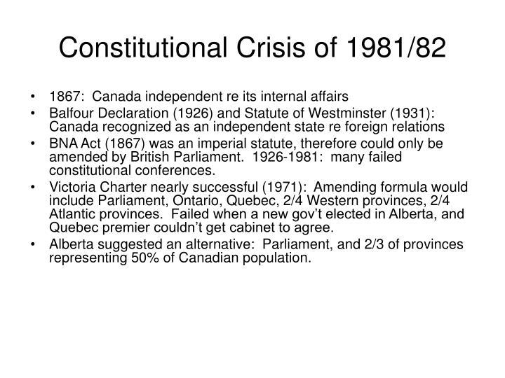 Constitutional Crisis of 1981/82
