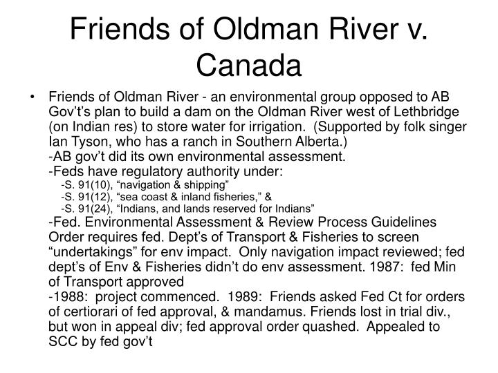 Friends of Oldman River v. Canada