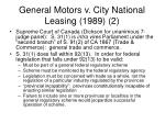 general motors v city national leasing 1989 2