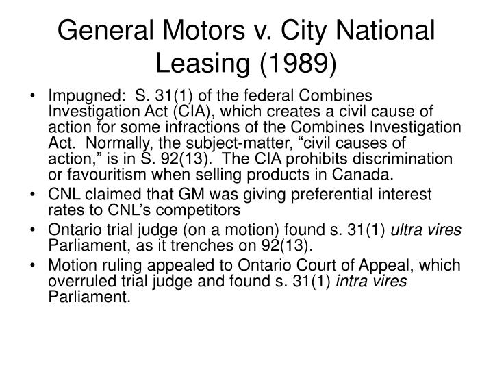 General Motors v. City National Leasing (1989)