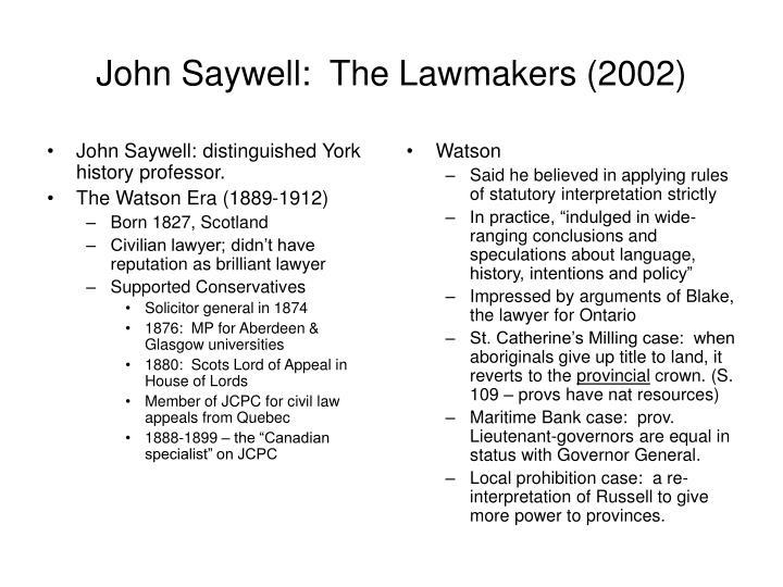 John Saywell: distinguished York history professor.