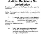 judicial decisions on jurisdiction1