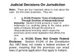 judicial decisions on jurisdiction10