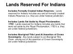 lands reserved for indians