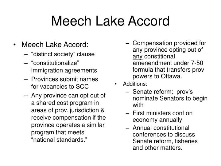Meech Lake Accord: