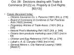 oct 28 decisions dealing with trade commerce 91 2 vs property civil rights 92 13